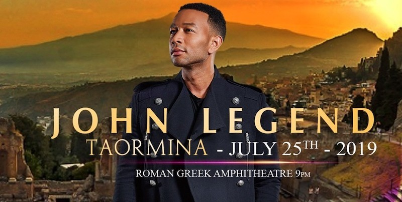 TEATRO ANTICO TAORMINA - John Legend a Taormina il 25 Luglio 2019