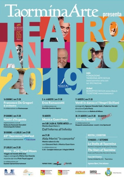 TAORMINA TEATRO ANTICO - PROGRAMMA TAORMINA FILM FEST 2019